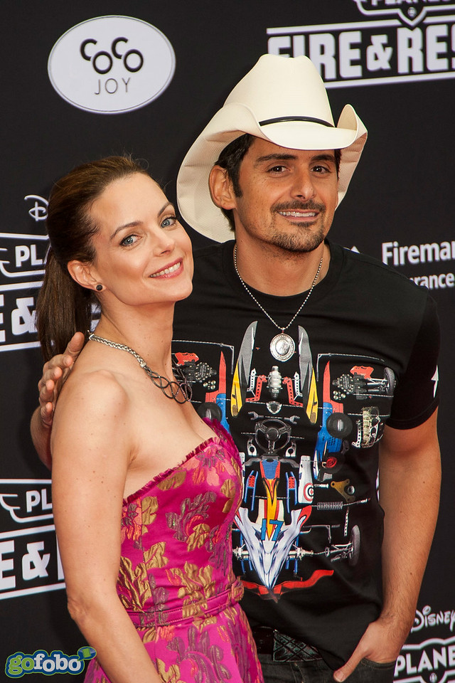 HOLLYWOOD, CA - JULY 15: Actress Kimberly Williams-Paisley (L) and musician Brad Paisley attend the premiere of Disney's 'Planes: Fire & Rescue' at the El Capitan Theatre on Tuesday July 15, 2014 in Hollywood, California. (Photo by Tom Sorensen/Moovieboy Pictures)