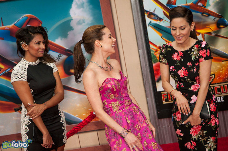 HOLLYWOOD, CA - JULY 15: Amrapali Ambegaokar, actress Kimberly Williams-Paisley and Kerri Kasem attend the premiere of Disney's 'Planes: Fire & Rescue' at the El Capitan Theatre on Tuesday July 15, 2014 in Hollywood, California. (Photo by Tom Sorensen/Moovieboy Pictures)