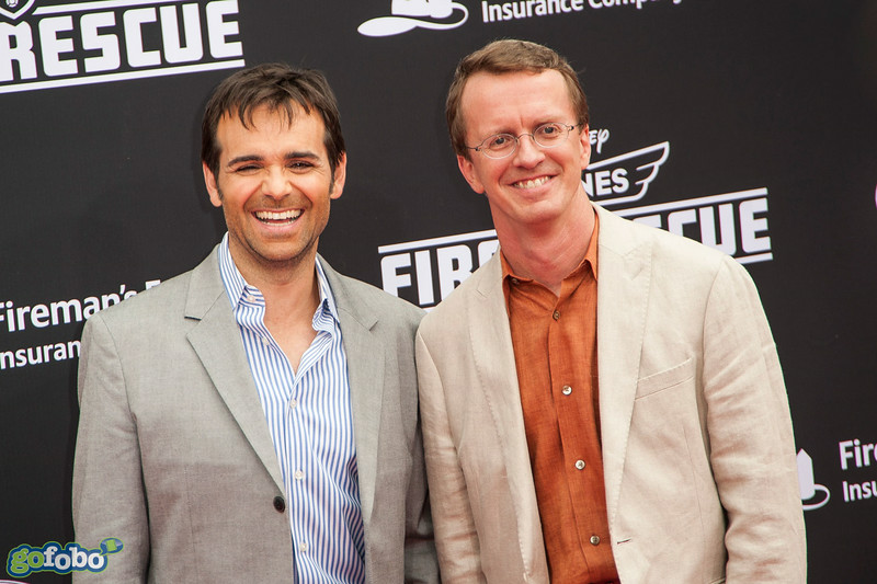 HOLLYWOOD, CA - JULY 15: Producer Ferrell Barron (L) and Bobs Gannaway (R), director and screenplay writer attend the premiere of Disney's 'Planes: Fire & Rescue' at the El Capitan Theatre on Tuesday July 15, 2014 in Hollywood, California. (Photo by Tom Sorensen/Moovieboy Pictures)