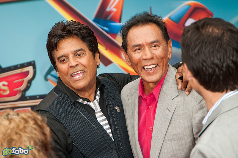 HOLLYWOOD, CA - JULY 15: Actors Erik Estrada and Wes Studi attend the premiere of Disney's 'Planes: Fire & Rescue' at the El Capitan Theatre on Tuesday July 15, 2014 in Hollywood, California. (Photo by Tom Sorensen/Moovieboy Pictures)