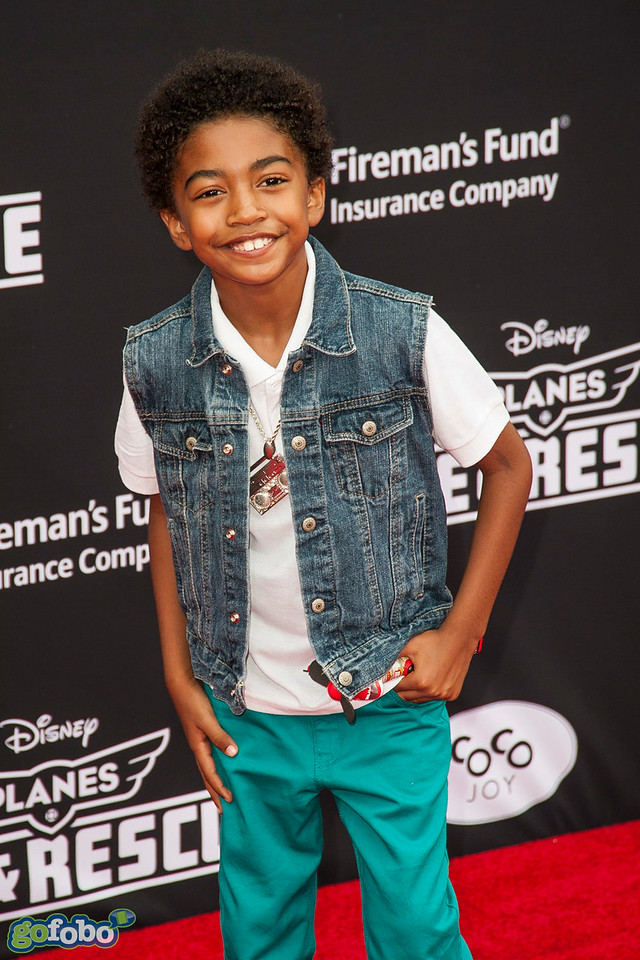HOLLYWOOD, CA - JULY 15: Actor Miles Brown attends the premiere of Disney's 'Planes: Fire & Rescue' at the El Capitan Theatre on Tuesday July 15, 2014 in Hollywood, California. (Photo by Tom Sorensen/Moovieboy Pictures)