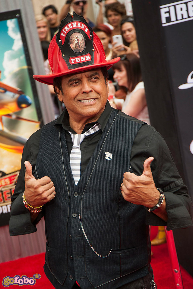 HOLLYWOOD, CA - JULY 15: Actor Erik Estrada attends the premiere of Disney's 'Planes: Fire & Rescue' at the El Capitan Theatre on Tuesday July 15, 2014 in Hollywood, California. (Photo by Tom Sorensen/Moovieboy Pictures)