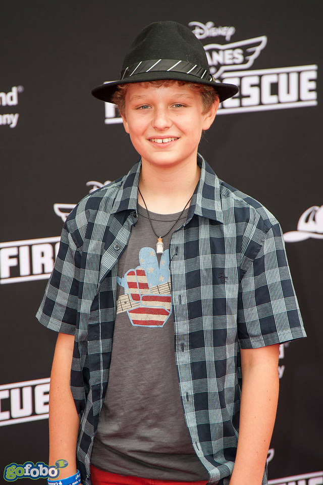 HOLLYWOOD, CA - JULY 15: Actor Riley Thomas Stewart attends the premiere of Disney's 'Planes: Fire & Rescue' at the El Capitan Theatre on Tuesday July 15, 2014 in Hollywood, California. (Photo by Tom Sorensen/Moovieboy Pictures)