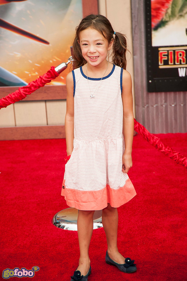 HOLLYWOOD, CA - JULY 15: Actress Aubrey Anderson-Emmons attends the premiere of Disney's 'Planes: Fire & Rescue' at the El Capitan Theatre on Tuesday July 15, 2014 in Hollywood, California. (Photo by Tom Sorensen/Moovieboy Pictures)