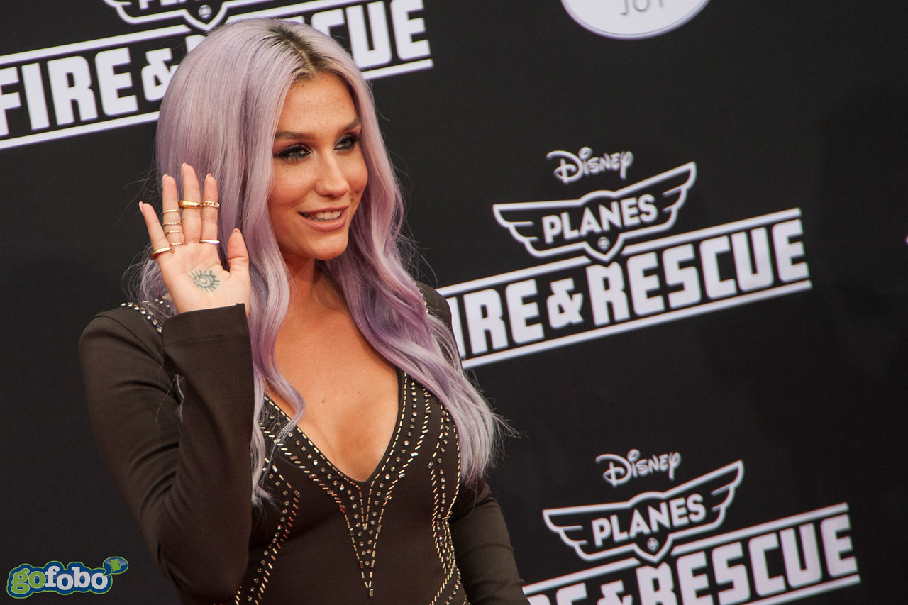 HOLLYWOOD, CA - JULY 15: Singer Kesha attends the premiere of Disney's 'Planes: Fire & Rescue' at the El Capitan Theatre on Tuesday July 15, 2014 in Hollywood, California. (Photo by Tom Sorensen/Moovieboy Pictures)