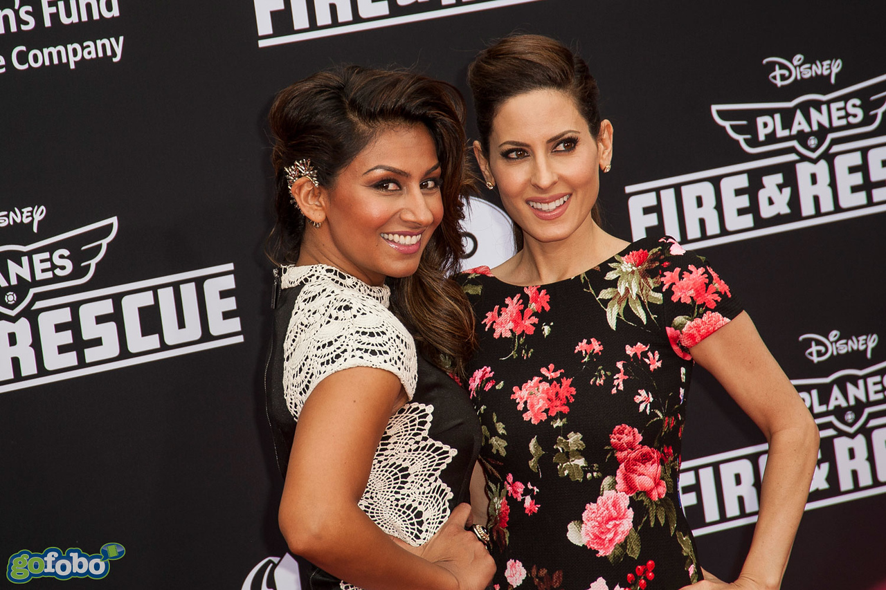 HOLLYWOOD, CA - JULY 15: Amrapali Ambegaokar and Kerri Kasem attend the premiere of Disney's 'Planes: Fire & Rescue' at the El Capitan Theatre on Tuesday July 15, 2014 in Hollywood, California. (Photo by Tom Sorensen/Moovieboy Pictures)