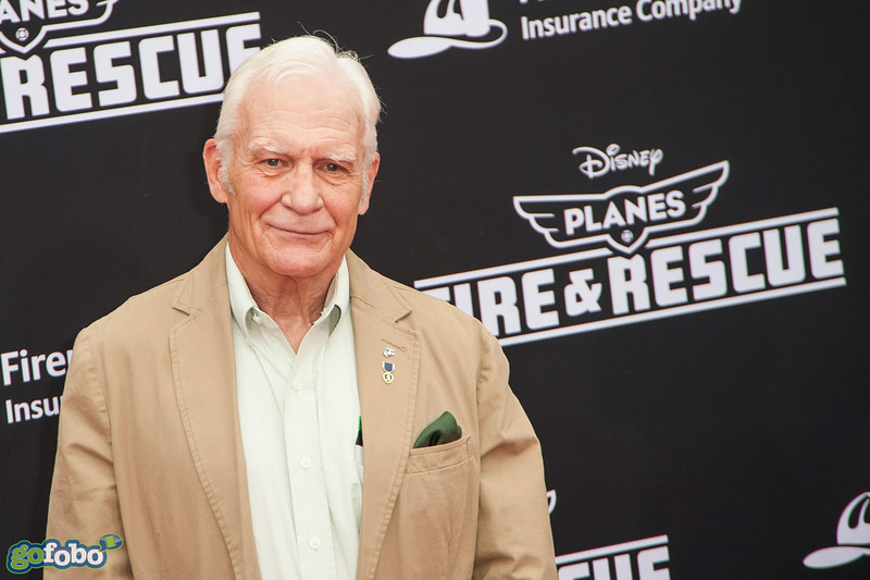 HOLLYWOOD, CA - JULY 15: Author/actor Captain Dale Dye attends the premiere of Disney's 'Planes: Fire & Rescue' at the El Capitan Theatre on Tuesday July 15, 2014 in Hollywood, California. (Photo by Tom Sorensen/Moovieboy Pictures)