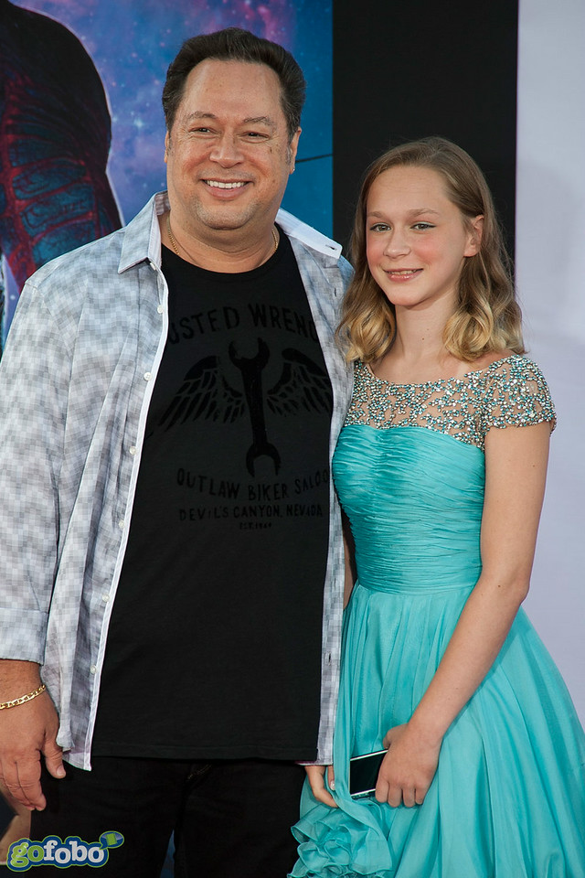 HOLLYWOOD, CA - JULY 21: Chief Creative Officer Marvel Joe Quesada  and daughter Carlie Quesada Marvel's 'Guardians Of The Galaxy' Los Angeles Premiere at the Dolby Theatre on Monday July 21, 2014 in Hollywood, California. (Photo by Tom Sorensen/Moovieboy Pictures)