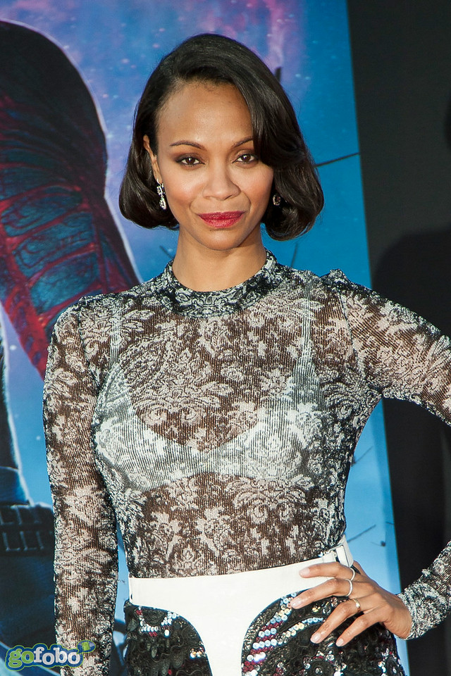 HOLLYWOOD, CA - JULY 21: Actress Zoe Saldana attends Marvel's 'Guardians Of The Galaxy' Los Angeles Premiere at the Dolby Theatre on Monday July 21, 2014 in Hollywood, California. (Photo by Tom Sorensen/Moovieboy Pictures)
