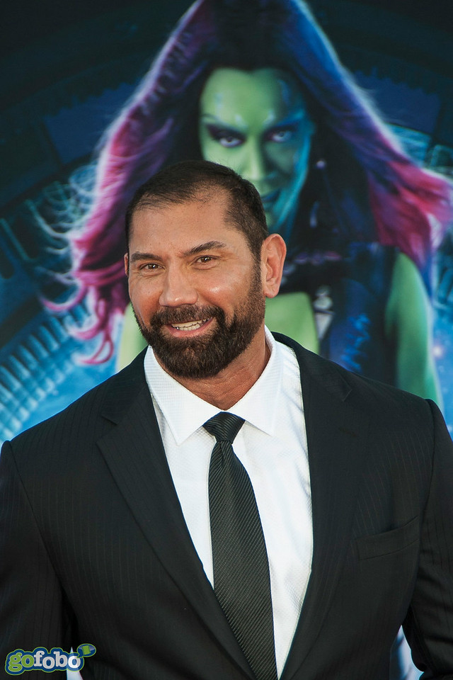 HOLLYWOOD, CA - JULY 21: Actor Actor Dave Bautista attends Marvel's 'Guardians Of The Galaxy' Los Angeles Premiere at the Dolby Theatre on Monday July 21, 2014 in Hollywood, California. (Photo by Tom Sorensen/Moovieboy Pictures)