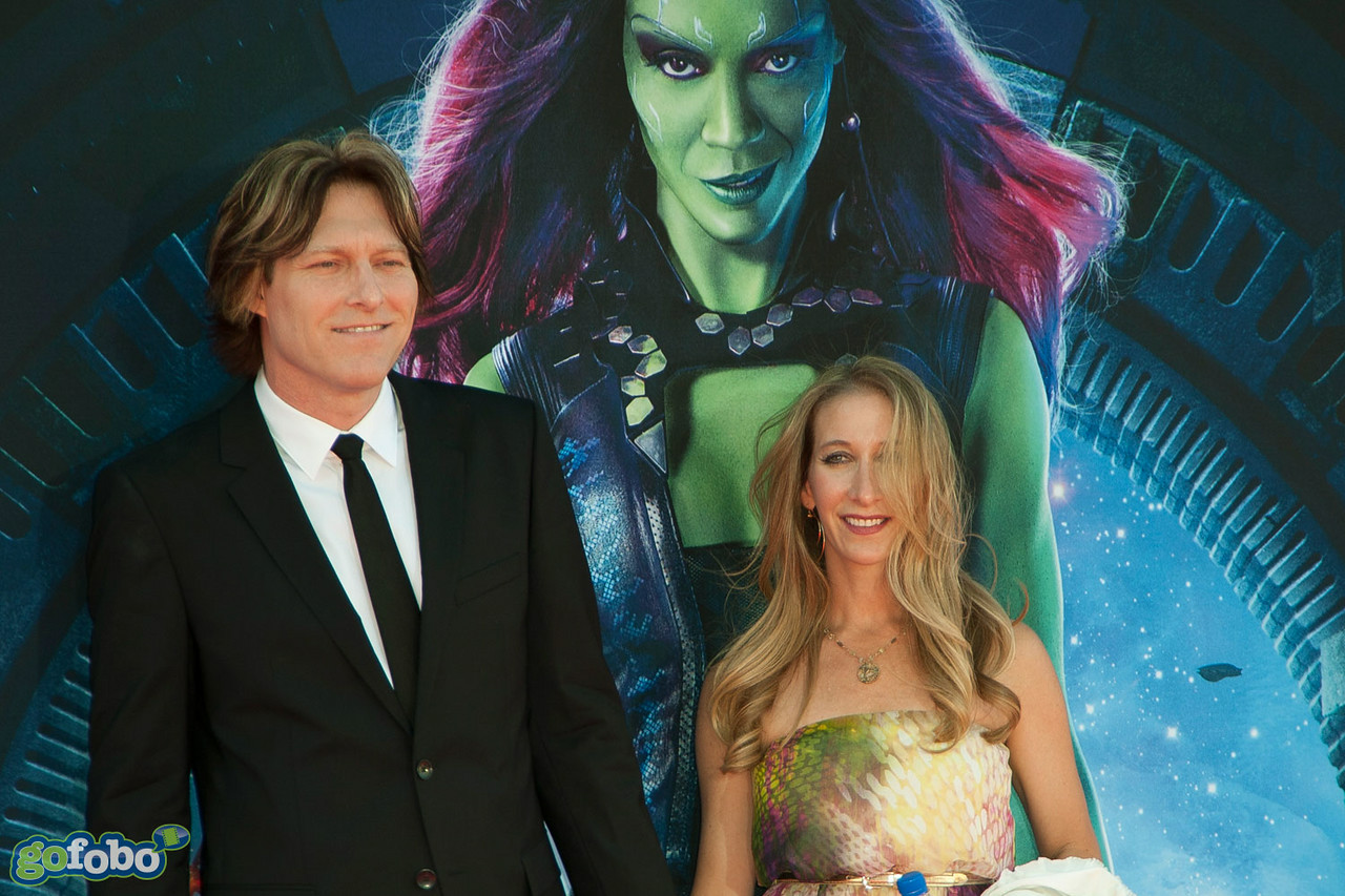 HOLLYWOOD, CA - JULY 21: Composer Tyler Bates and guest attend Marvel's 'Guardians Of The Galaxy' Los Angeles Premiere at the Dolby Theatre on Monday July 21, 2014 in Hollywood, California. (Photo by Tom Sorensen/Moovieboy Pictures)