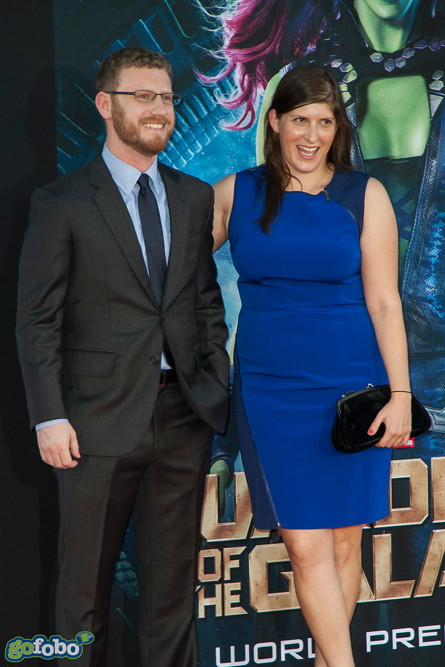 HOLLYWOOD, CA - JULY 21: Producer Jonathan Schwartz (L) and guest attend Marvel's 'Guardians Of The Galaxy' Los Angeles Premiere at the Dolby Theatre on Monday July 21, 2014 in Hollywood, California. (Photo by Tom Sorensen/Moovieboy Pictures)