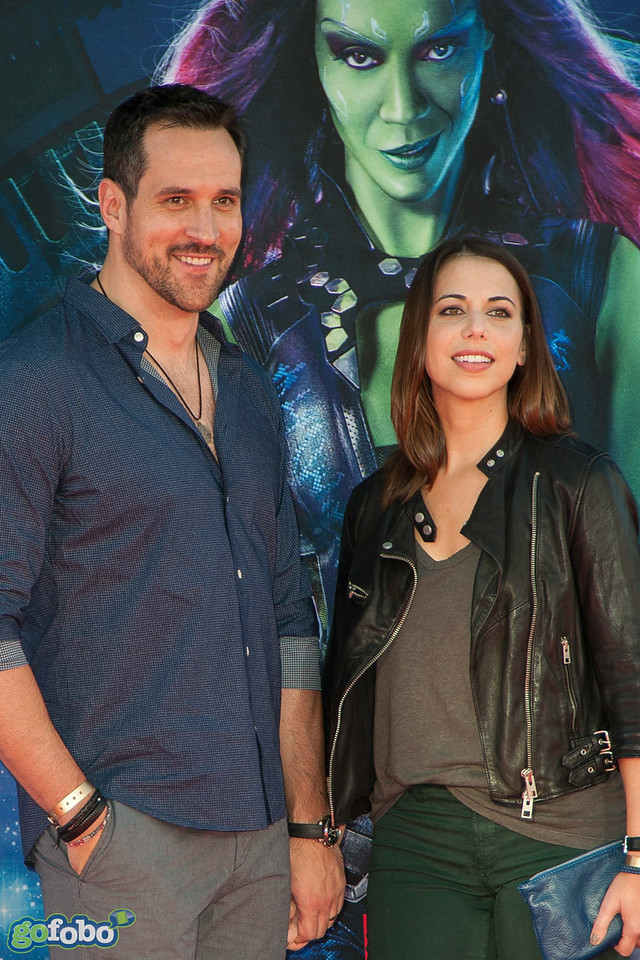 HOLLYWOOD, CA - JULY 21: Actor Travis Willingham (L) and Laura Bailey attend Marvel's 'Guardians Of The Galaxy' Los Angeles Premiere at the Dolby Theatre on Monday July 21, 2014 in Hollywood, California. (Photo by Tom Sorensen/Moovieboy Pictures)