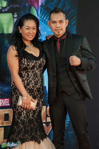 HOLLYWOOD, CA - JULY 21: Boxer Nonito Donaire (R) and Rachel Marcial attend Marvel's 'Guardians Of The Galaxy' Los Angeles Premiere at the Dolby Theatre on Monday July 21, 2014 in Hollywood, California. (Photo by Tom Sorensen/Moovieboy Pictures)