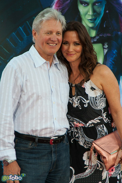 HOLLYWOOD, CA - JULY 21: Actor Bruce Boxleitner and Verena King attend Marvel's 'Guardians Of The Galaxy' Los Angeles Premiere at the Dolby Theatre on Monday July 21, 2014 in Hollywood, California. (Photo by Tom Sorensen/Moovieboy Pictures)