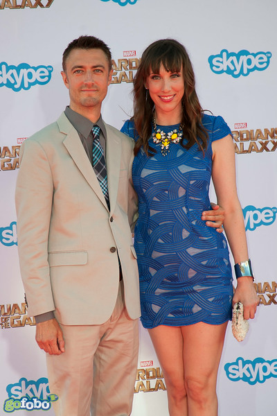HOLLYWOOD, CA - JULY 21: Actor Sean Gunn (L) and producer Miranda Bailey attend Marvel's 'Guardians Of The Galaxy' Los Angeles Premiere at the Dolby Theatre on Monday July 21, 2014 in Hollywood, California. (Photo by Tom Sorensen/Moovieboy Pictures)