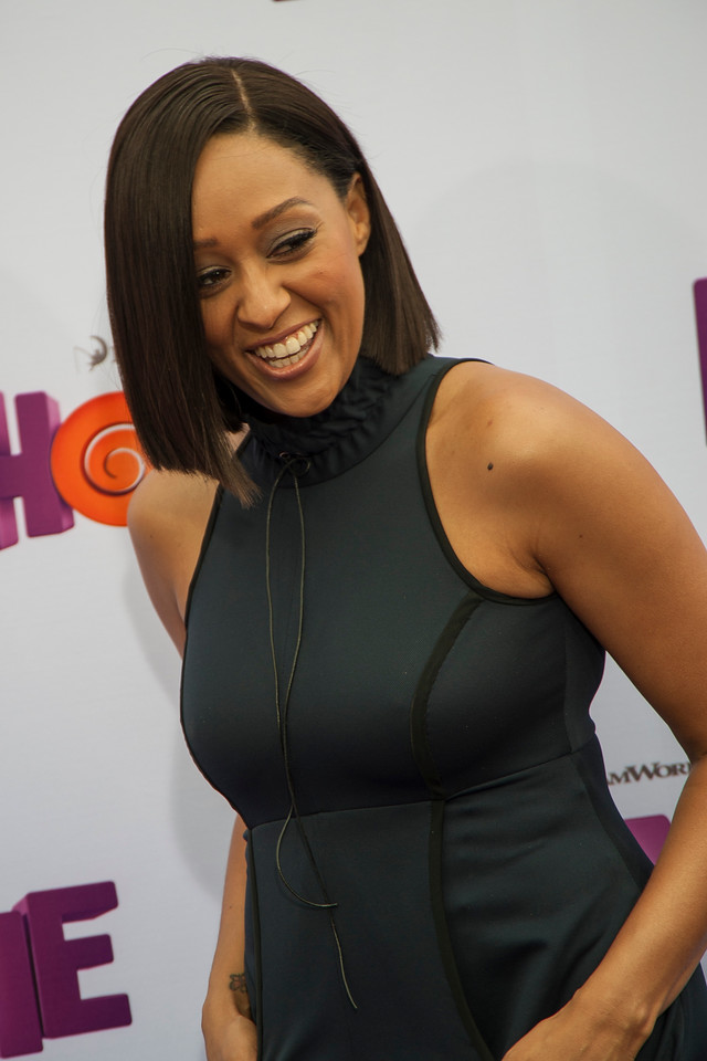 WESTWOOD, CA - MARCH 22: Actress Tia Mowry arrives for the Premiere Of Twentieth Century Fox And Dreamworks Animation's 'HOME' held at Regency Village Theatre on Sunday March 22, 2015 in Westwood, California. (Photo by Tom Sorensen/Moovieboy Pictures)