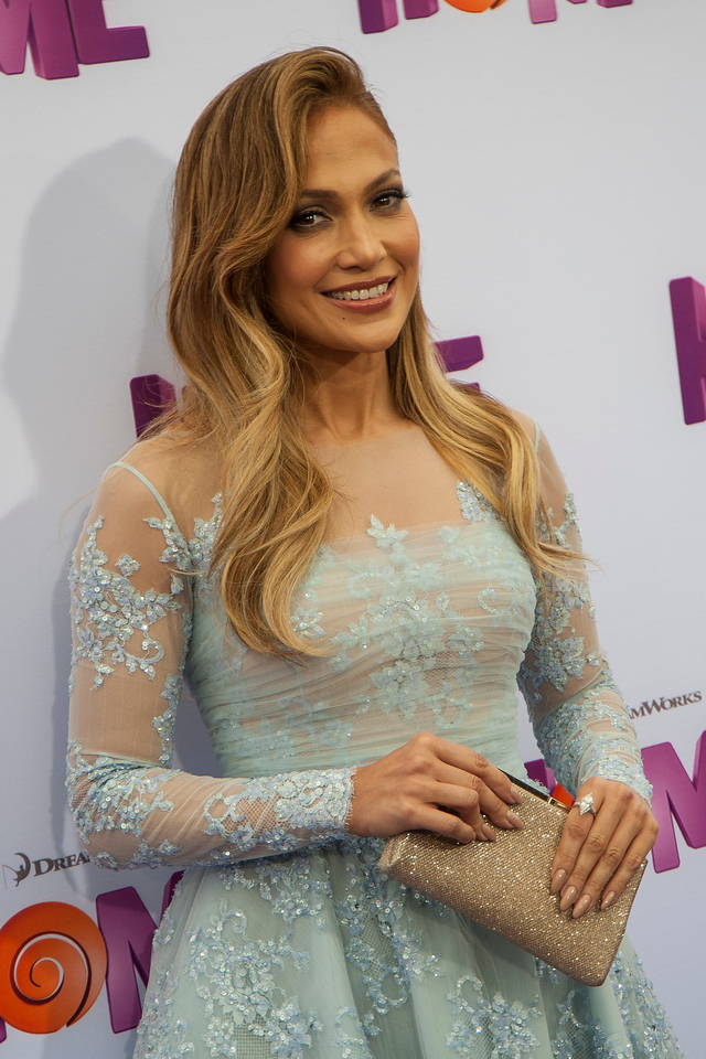 WESTWOOD, CA - MARCH 22: Actress Jennifer Lopez arrives for the Premiere Of Twentieth Century Fox And Dreamworks Animation's 'HOME' held at Regency Village Theatre on Sunday March 22, 2015 in Westwood, California. (Photo by Tom Sorensen/Moovieboy Pictures)