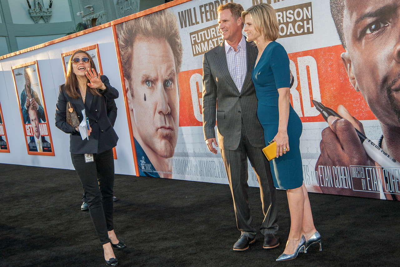 LOS ANGELES, CA - MARCH 25: Actor Will Farrell and wife Vivica Paulson arrive at the premiere of Warner Bros. Pictures' 'Get Hard' at the Chinese Theatre on March 25, 2015 in Los Angeles, California. (Photo by Tom Sorensen/Moovieboy Pictures)