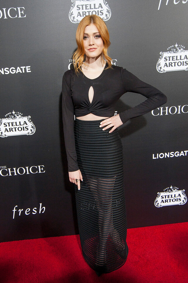 HOLLYWOOD, CA - FEBRUARY 1: Actress Katherine McNamara attends the premiere of Lionsgate's 'The Choice' at ArcLight Cinemas on Monday February 1, 2016 in Hollywood, California. (Photo by Tom Sorensen/Moovieboy Pictures)