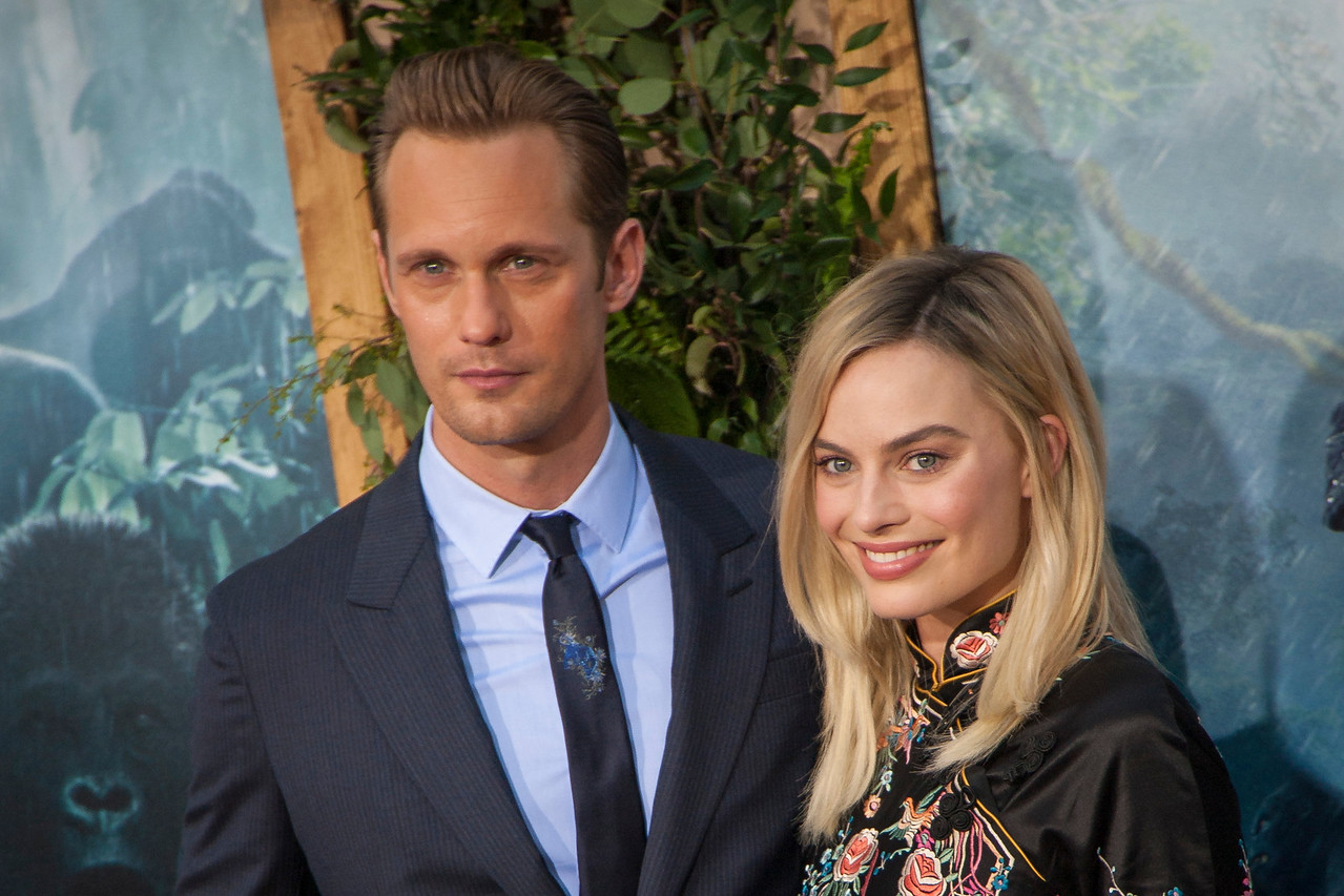 HOLLYWOOD, CA - JUNE 27: Actor Alexander Skarsgard and actress Margot Robbie attend the premiere of Warner Bros. Pictures' 'The Legend Of Tarzan' at Dolby Theatre on Monday June 27, 2016 in Hollywood, California. (Photo by Tom Sorensen/Mooviboy Pictures)