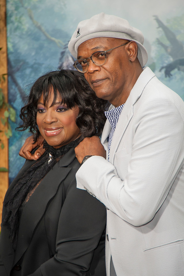 HOLLYWOOD, CA - JUNE 27: Actor Samuel L Jackson (R) and wife LaTanya Richardson attend the premiere of Warner Bros. Pictures' 'The Legend Of Tarzan' at Dolby Theatre on Monday June 27, 2016 in Hollywood, California. (Photo by Tom Sorensen/Mooviboy Pictures)