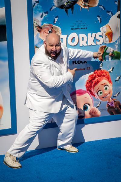 WESTWOOD, CA - SEPTEMBER 17: Actor Stephen Kramer Glickman attends the premiere of Warner Bros. Pictures' 'Storks' at Regency Village Theatre on Saturday September 17, 2016 in Westwood, California. (Photo by Tom Sorensen/Moovieboy Pictures)
