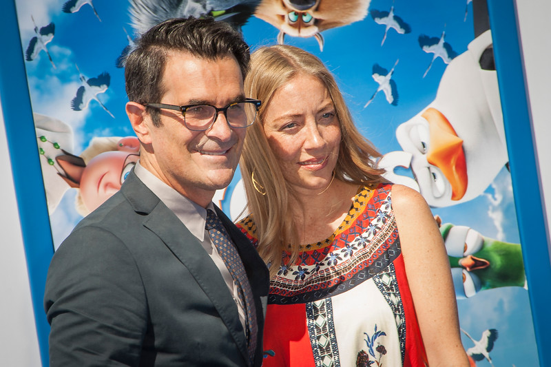 WESTWOOD, CA - SEPTEMBER 17: Actor Ty Burrell (L) and Holly Burrell attend the premiere of Warner Bros. Pictures' 'Storks' at Regency Village Theatre on Saturday September 17, 2016 in Westwood, California. (Photo by Tom Sorensen/Moovieboy Pictures)