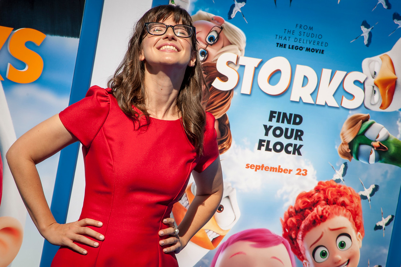 WESTWOOD, CA - SEPTEMBER 17: Actress Katie Crown attends the premiere of Warner Bros. Pictures' 'Storks' at Regency Village Theatre on Saturday September 17, 2016 in Westwood, California. (Photo by Tom Sorensen/Moovieboy Pictures)