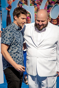 WESTWOOD, CA - SEPTEMBER 17: Actors Andy Samberg and Stephen Kramer Glickman attend the premiere of Warner Bros. Pictures' 'Storks' at Regency Village Theatre on Saturday September 17, 2016 in Westwood, California. (Photo by Tom Sorensen/Moovieboy Pictures)