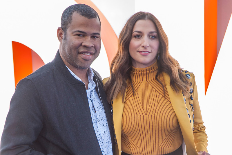 WESTWOOD, CA - SEPTEMBER 17: Actor Jordan Peele and wife actress Chelsea Peretti attend the premiere of Warner Bros. Pictures' 'Storks' at Regency Village Theatre on Saturday September 17, 2016 in Westwood, California. (Photo by Tom Sorensen/Moovieboy Pictures)