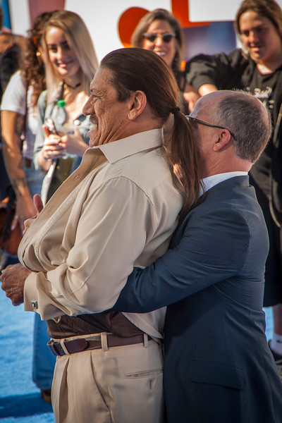 WESTWOOD, CA - SEPTEMBER 17: (L-R) Actor Danny Trejo and producer Brad Lewis attend the premiere of Warner Bros. Pictures' 'Storks' at Regency Village Theatre on Saturday September 17, 2016 in Westwood, California. (Photo by Tom Sorensen/Moovieboy Pictures)