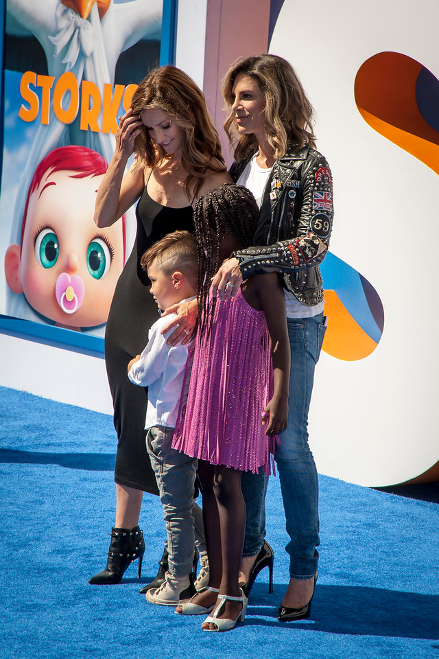WESTWOOD, CA - SEPTEMBER 17: TV Personalities Heidi Rhoades, Phoenix Michael Rhoades, Jillian Michaels and Lukensia Michaels Rhoades attend the premiere of Warner Bros. Pictures' 'Storks' at Regency Village Theatre on Saturday September 17, 2016 in Westwood, California. (Photo by Tom Sorensen/Moovieboy Pictures)