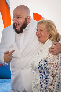 WESTWOOD, CA - SEPTEMBER 17: Actor Stephen Kramer Glickman and mother attend the premiere of Warner Bros. Pictures' 'Storks' at Regency Village Theatre on Saturday September 17, 2016 in Westwood, California. (Photo by Tom Sorensen/Moovieboy Pictures)