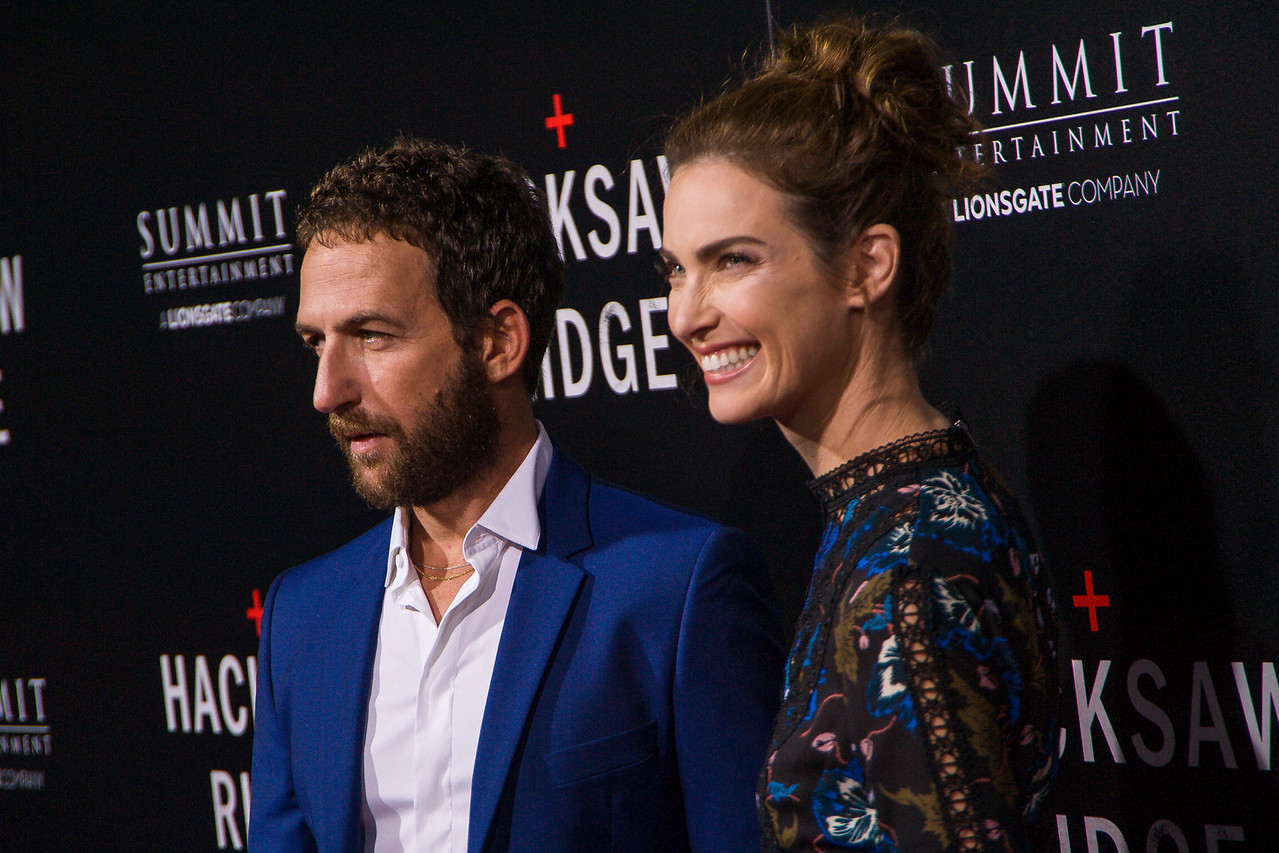 BEVERLY HILLS, CA - OCTOBER 24: Actors Ori Pfeffer and Yael Goldman attend the screening of Summit Entertainment's 'Hacksaw Ridge' at the Samuel Goldwyn Theater on Monday October 24, 2016 in Beverly Hills, California. (Photo by Tom Sorensen/Moovieboy Pictures)