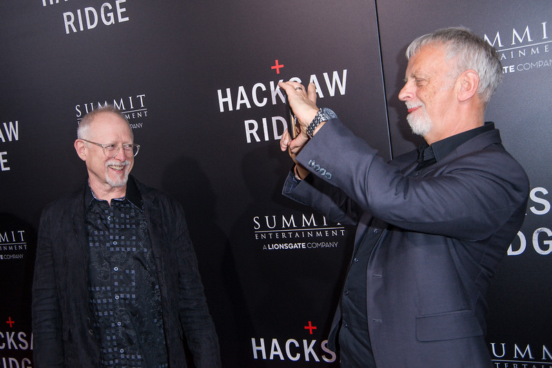 BEVERLY HILLS, CA - OCTOBER 24: Screenwriters Robert Schenkkan and Andrew Knight attend the screening of Summit Entertainment's 'Hacksaw Ridge' at the Samuel Goldwyn Theater on Monday October 24, 2016 in Beverly Hills, California. (Photo by Tom Sorensen/Moovieboy Pictures)
