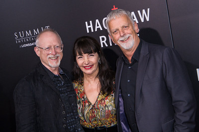BEVERLY HILLS, CA - OCTOBER 24: Screenwriter Robert Schenkkan (L), Deborah McDermott and screenwriter Andrew Knight attend the screening of Summit Entertainment's 'Hacksaw Ridge' at the Samuel Goldwyn Theater on Monday October 24, 2016 in Beverly Hills, California. (Photo by Tom Sorensen/Moovieboy Pictures)