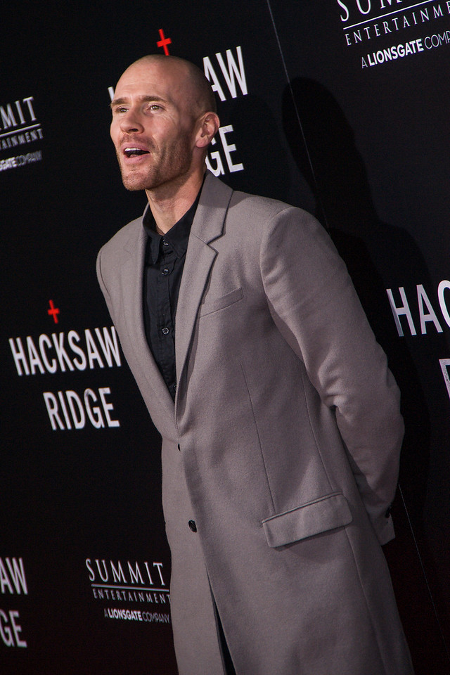 BEVERLY HILLS, CA - OCTOBER 24: Actor Oliver Trevena attends the screening of Summit Entertainment's 'Hacksaw Ridge' at the Samuel Goldwyn Theater on Monday October 24, 2016 in Beverly Hills, California. (Photo by Tom Sorensen/Moovieboy Pictures)