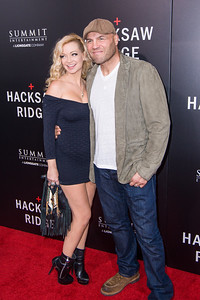BEVERLY HILLS, CA - OCTOBER 24: Mindy Couture and Randy Couture attend the screening of Summit Entertainment's 'Hacksaw Ridge' at the Samuel Goldwyn Theater on Monday October 24, 2016 in Beverly Hills, California. (Photo by Tom Sorensen/Moovieboy Pictures)
