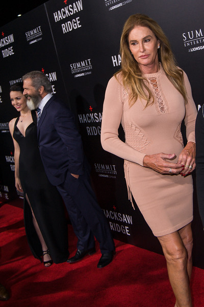 BEVERLY HILLS, CA - OCTOBER 24: Rosalind Ross (L) and director Mel Gibson and Caitlyn Jenner attend the screening of Summit Entertainment's 'Hacksaw Ridge' at the Samuel Goldwyn Theater on Monday October 24, 2016 in Beverly Hills, California. (Photo by Tom Sorensen/Moovieboy Pictures)