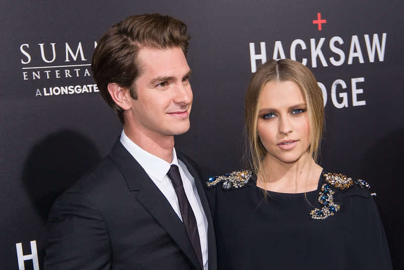 BEVERLY HILLS, CA - OCTOBER 24: Actors Andrew Garfield and Teresa Palmer attend the screening of Summit Entertainment's 'Hacksaw Ridge' at the Samuel Goldwyn Theater on Monday October 24, 2016 in Beverly Hills, California. (Photo by Tom Sorensen/Moovieboy Pictures)