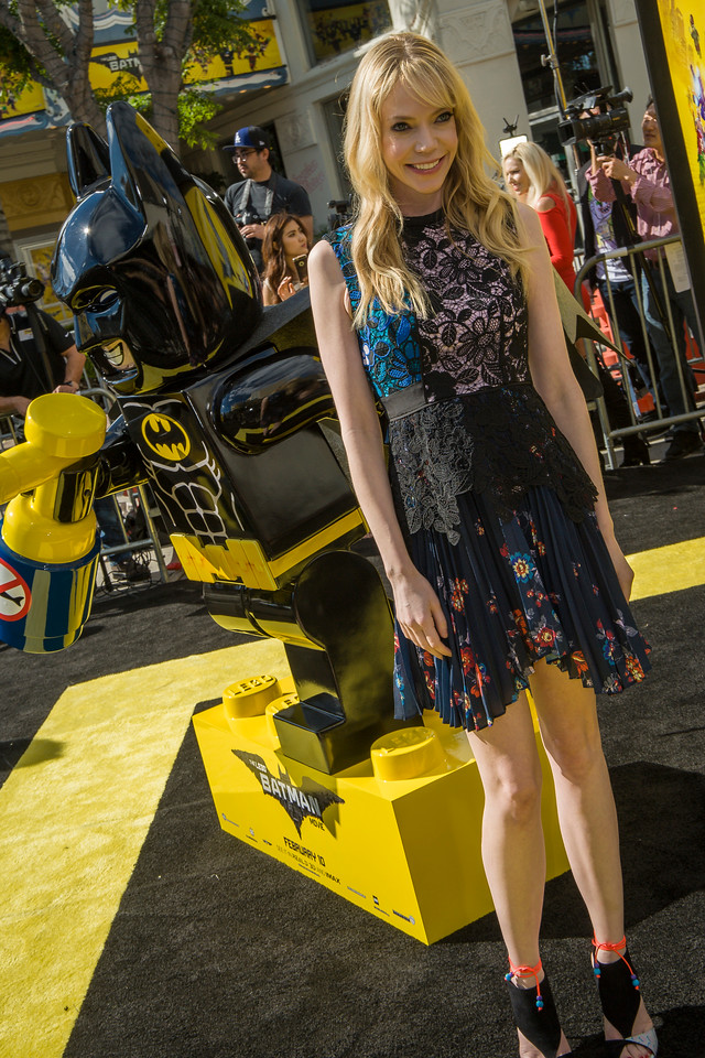 WESTWOOD, CA - FEBRUARY 04: Actress Riki Lindhome attends the premiere Of Warner Bros. Pictures' 'The LEGO Batman Movie' at Regency Village Theatre on Saturday February 4, 2017 in Westwood, California. (Photo by Tom Sorensen/Moovieboy Pictures)