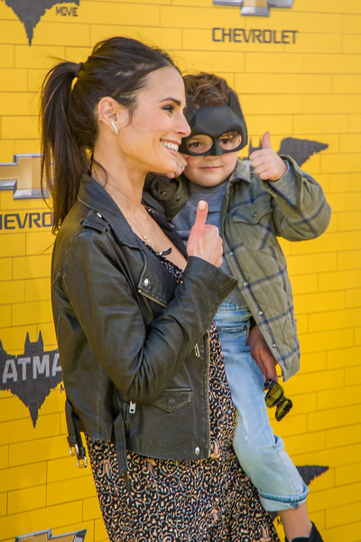 WESTWOOD, CA - FEBRUARY 04: Actress Jordana Brewster and Julian Form-Brewster attend the premiere Of Warner Bros. Pictures' 'The LEGO Batman Movie' at Regency Village Theatre on Saturday February 4, 2017 in Westwood, California. (Photo by Tom Sorensen/Moovieboy Pictures)