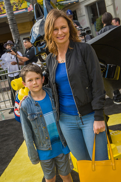 WESTWOOD, CA - FEBRUARY 04: Mary Lynn Rajskub and son Valentine attend the premiere Of Warner Bros. Pictures' 'The LEGO Batman Movie' at Regency Village Theatre on Saturday February 4, 2017 in Westwood, California. (Photo by Tom Sorensen/Moovieboy Pictures)
