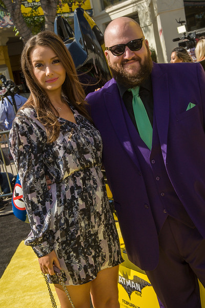WESTWOOD, CA - FEBRUARY 04: Actress Rachel Mullins and actor Stephen Kramer Glickman atend the premiere Of Warner Bros. Pictures' 'The LEGO Batman Movie' at Regency Village Theatre on Saturday February 4, 2017 in Westwood, California. (Photo by Tom Sorensen/Moovieboy Pictures)