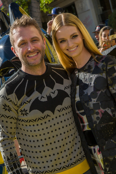 WESTWOOD, CA - FEBRUARY 04: Chris Hardwick and wife Lydia Hearts attend the premiere Of Warner Bros. Pictures' 'The LEGO Batman Movie' at Regency Village Theatre on Saturday February 4, 2017 in Westwood, California. (Photo by Tom Sorensen/Moovieboy Pictures)