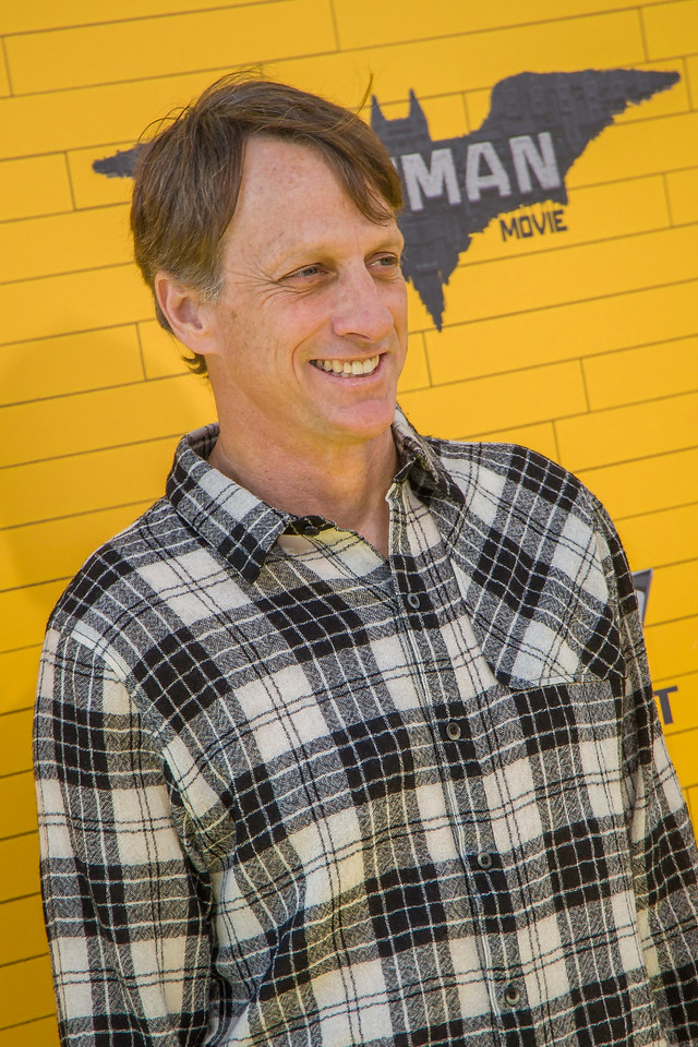 WESTWOOD, CA - FEBRUARY 04: Skateboarder Tony Hawk attends the premiere Of Warner Bros. Pictures' 'The LEGO Batman Movie' at Regency Village Theatre on Saturday February 4, 2017 in Westwood, California. (Photo by Tom Sorensen/Moovieboy Pictures)