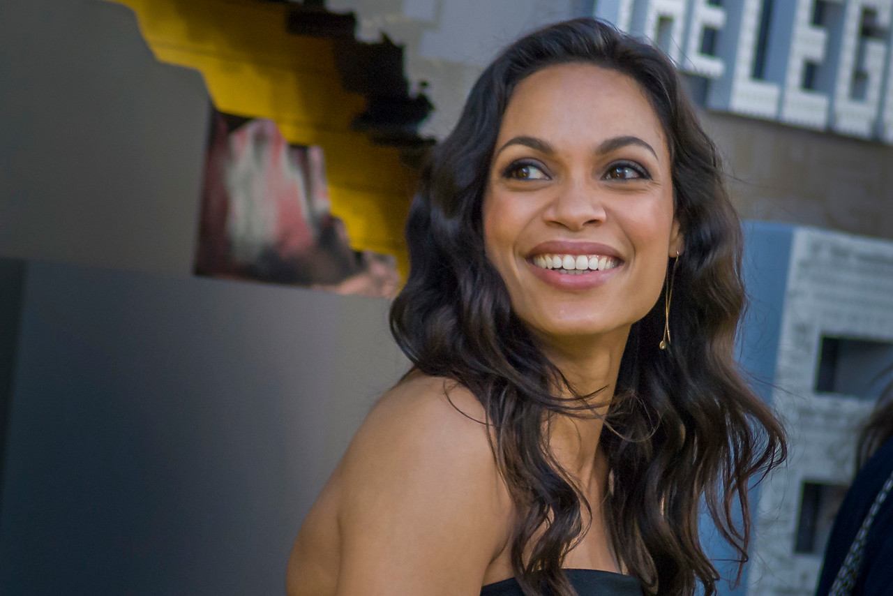 WESTWOOD, CA - FEBRUARY 04: Actress Rosario Dawson attends the premiere Of Warner Bros. Pictures' 'The LEGO Batman Movie' at Regency Village Theatre on Saturday February 4, 2017 in Westwood, California. (Photo by Tom Sorensen/Moovieboy Pictures)