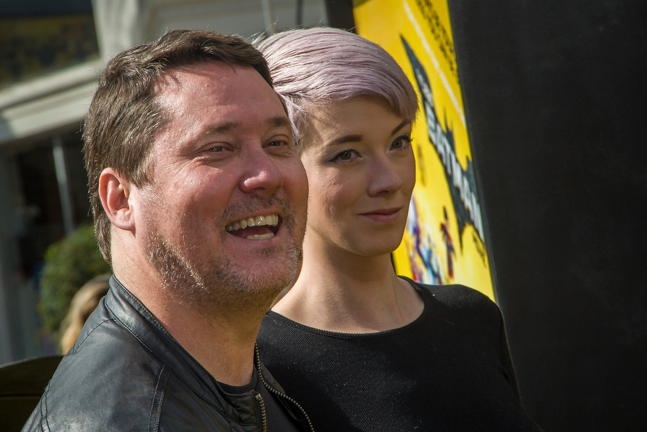 WESTWOOD, CA - FEBRUARY 04: Actor Doug Benson and guest attend the premiere Of Warner Bros. Pictures' 'The LEGO Batman Movie' at Regency Village Theatre on Saturday February 4, 2017 in Westwood, California. (Photo by Tom Sorensen/Moovieboy Pictures)