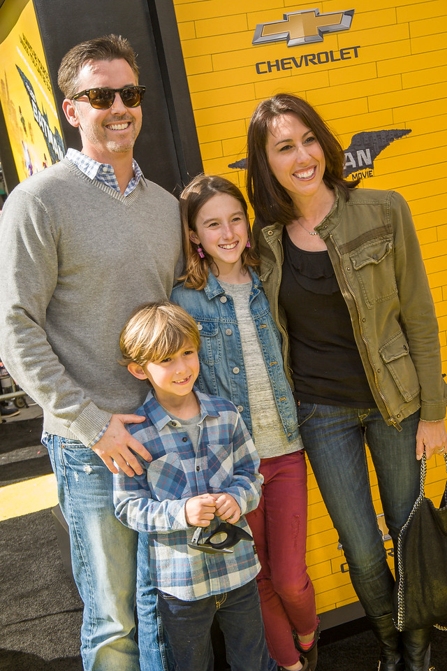 WESTWOOD, CA - FEBRUARY 04: Olympic swimmer Janet Evans and family attend the premiere Of Warner Bros. Pictures' 'The LEGO Batman Movie' at Regency Village Theatre on Saturday February 4, 2017 in Westwood, California. (Photo by Tom Sorensen/Moovieboy Pictures)
